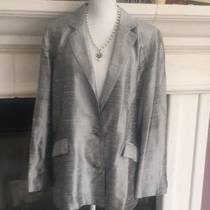 Chico's shimmery silver evening jacket stunner❤️